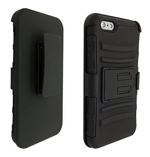 iPhone 611,9cm Clip ceinture pour iPhone 611,9cm Clip ceinture robuste hybride Builder Armor Coque Housse résistante Clip ceinture holister