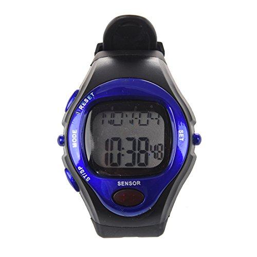 SODIAL (R)Blau Pulsmesser Pulsuhr Uhr digit. Herzfrequenzmesser Kalorienzaehler