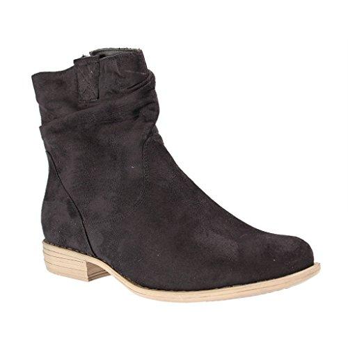 FITTERS FOOTWEAR - Laura - Damen Kurzschaft Stiefel - Schwarz XXL Schuhe in Übergröße