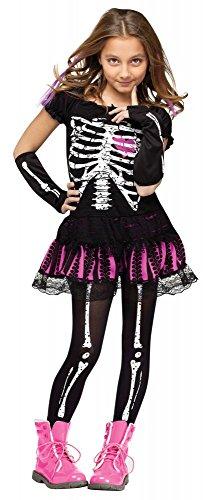 shoperama Sally Skully Mädchen Kostüm , Kindergröße:134 - 8 bis 10 ()
