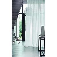 Belle Cose Keten Görünümlü Kullanıma Hazır Düz Beyaz Tül Perde-Beyaz-370X250 cm