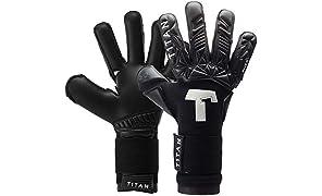 T1TAN Torwarthandschuhe für Erwachsene, Tormannhandschuhe Herren Innennaht und 4mm Grip - Diverse Größe und Farben