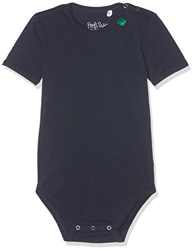 Fred's World by Green Cotton Baby-Unisex Formender Alfa s/Sl Body Noos, Blau (Navy 019392001), 74 (Industrie-kurzarm-baumwolle)
