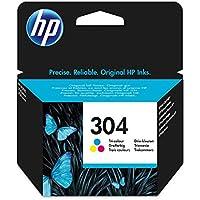 HP 304 cartouche d'encre Trois Couleurs (Cyan, Magenta, Jaune) Authentique (N9K05AE) pour imprimantes HP DeskJet et HP ENVY