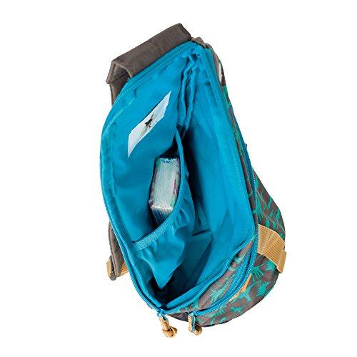 Lässig 4Kids - Zainetto sportivo con stringhe, piccolo, Multicolore (Dino Slate), 37 cm Dino Slate