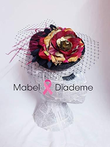 f67fa05ff Tocados Mabel Diademe accesorio pelo mujer niña peina bodas comunion  invitadas madrina arras damas de honor