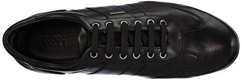 Geox U Symbol B Abx Herren Sneakers Schwarz (blackc9999)