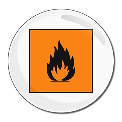 Flammable - 55mm ronde de miroir compact