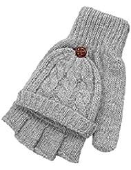 Tongshi Guantes de mujeres más cálido invierno sin dedos