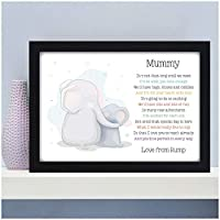 Personalised Mummy To Be Gifts from Bump Daddy To Be Birthday Christmas Mothers Fathers Day Baby Shower Gifts for Expecting Mummy Daddy from Bump - A5 A4 Framed Prints or 18mm Wooden Blocks