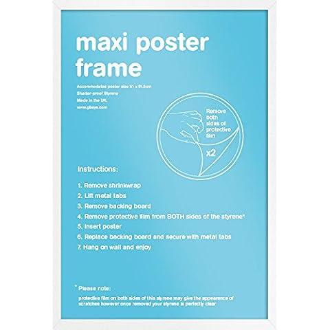 Marco para póster (61 x 91,5 cm), Blanco