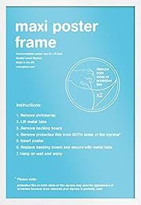 White Maxi Poster Frame - 61cm x 91.5cm