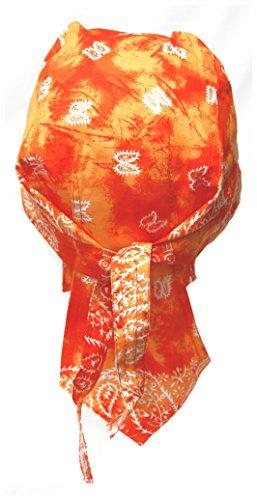 Preisvergleich Produktbild Doktor Hardstuff Biker Bandana Cap - Paisley Orange Batik