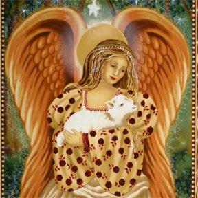 Golden Angel Quilting Baumwolle und Lamm BLECH-Michael Miller 61 cm x 110 cm