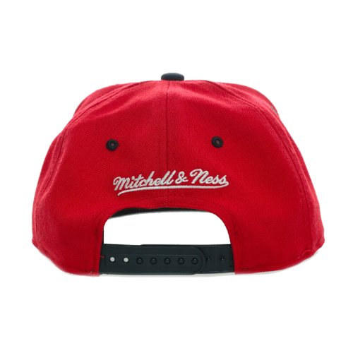 Mitchell & Ness Mitchell & Ness Miami Heat Red Cork Snapback Brown & Red