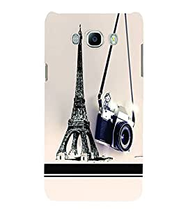 PrintVisa Travel Paris Camera 3D Hard Polycarbonate Designer Back Case Cover for Samsung Galaxy J7 2016 Edition
