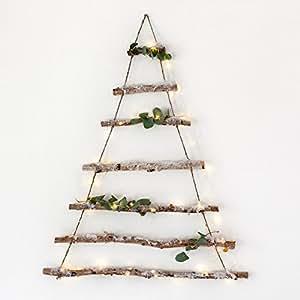 Decorazione ad albero di Natale fatta di rami di betulla di Lights4fun
