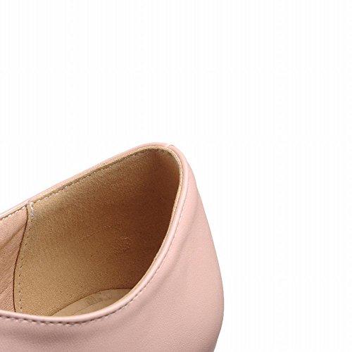 MissSaSa Donna Scarpe col Tacco Alto Metallo Spicco Elegante Rosa