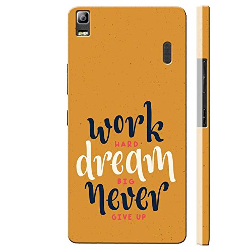 SHAIVYA Designer Soft Cover Having Excellent Printing Work Hard n Dream Big TPU (Rubber) Printed Back Cover Compatible with Lenovo K3 Note