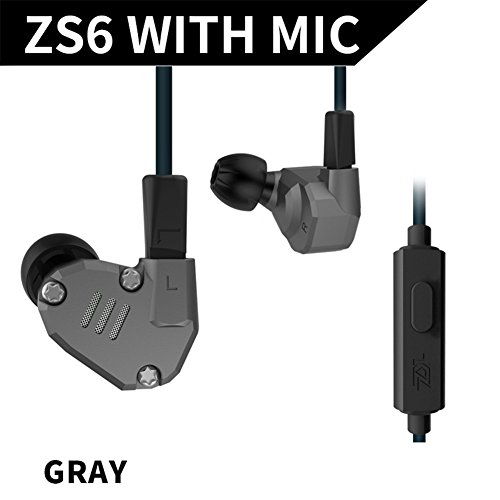 HiFi In Ear Earphone Triple Driver Balanced Armature Bass Noise Earphone (Grey with MIC) (Triple-driver-ohrhörer)