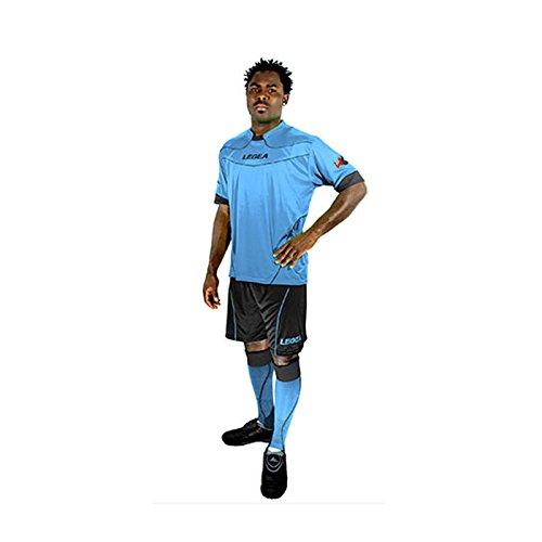 Legea Kit Brasilia Shirt und Shorts Training Fußball Sport, Celest-GRIS -