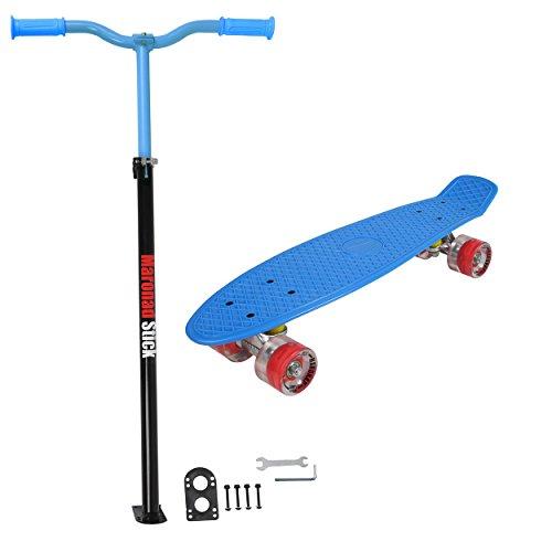 Penny ABEC - 7 - Monopatín skate board con ruedas LED iluminación