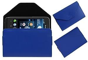 Acm Premium Pouch Case For Lenovo A789 Flip Flap Cover Holder Blue