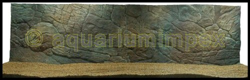 3D Aquarium Rückwand 200x50 Aquariumrückwand Dünn