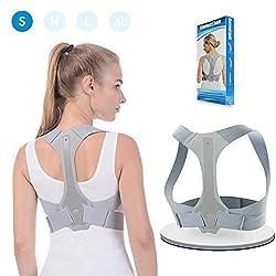 Haltungskorrektur ANOOPSYCHE Geradehalter Schulter Rückenstütze Verstellbare für eine Gesunde Haltung,ideal zur Therapie für haltungsbedingte Nacken,Rücken und Schulterschmerzen für Damen und Herren S