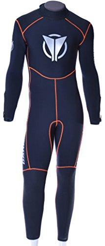 BARAKUDATauchanzug Capoeira BZ HS 5Nasstauchanzug mit Rückenreißverschluss, 5mm Neopren, für Herren, Schwarz, Größe: 32
