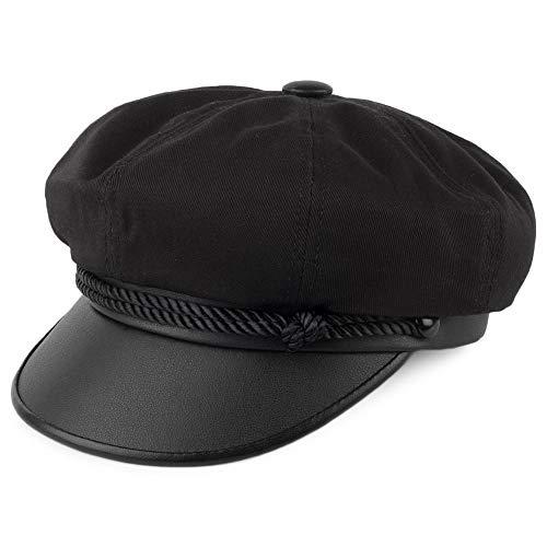 Village Hats Casquette Brando en Toile Noir New York Hat CO. - Medium