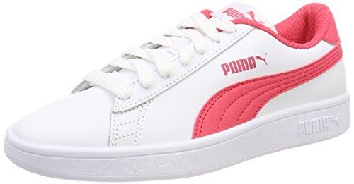 Puma Unisex-Kinder Smash v2 L Jr Sneaker, Weiß White-Paradise Pink, 37.5 EU
