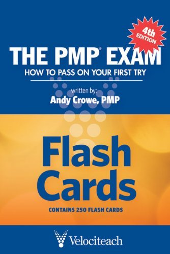 Portada del libro The PMP Exam: Flash Cards (Test Prep series) by Andy Crowe (2010-05-01)