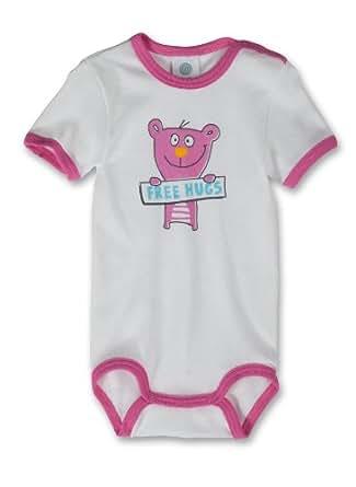 Sanetta Unisex - Baby Body, Tierdruck 321574, Gr. 56, Pink (3672)
