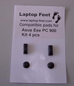 Pieds en caoutchouc Compatible pour ordinateur portable ASUS EEE PC 900Kit autocollant (Lot de 4)