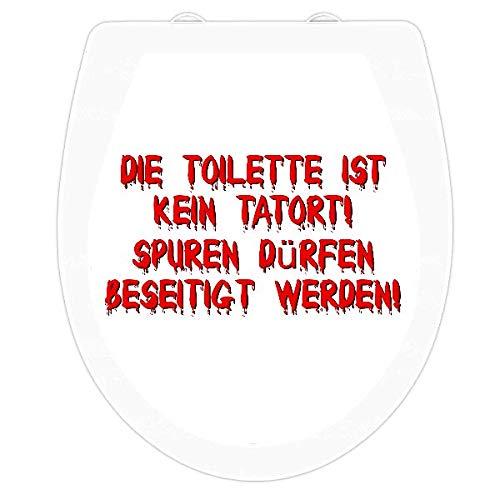 wc-gestalten.de   WC Sitz Aufkleber Tatort Reinigen