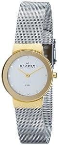 Reloj de mujer Skagen Slimline Bicolor 358SGSCD de cuarzo, correa de acero inoxidable color plata de Skagen