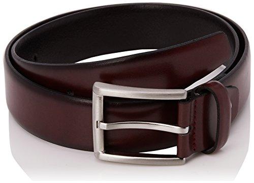 MLT Belts & Accessoires Herren Business-Gürtel London, Rot (Bordeaux 5000), 85 cm