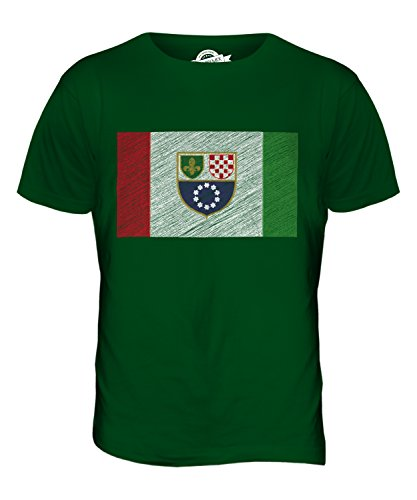 CandyMix Föderation Bosnien Und Herzegowina Kritzelte Flagge Herren T Shirt Flaschengrün