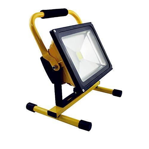HENGMEI 30W LED Fluter Akku Baustrahler Arbeitsleuchte Strahler Flutlicht Scheinwerfer handlampe für Camping (30W Warmweiß) (Akku-scheinwerfer)