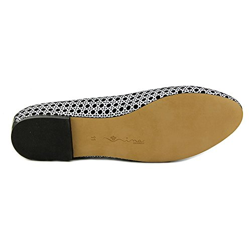 Nina Peppy-L Femmes Daim Chaussure Plate Black Wicker