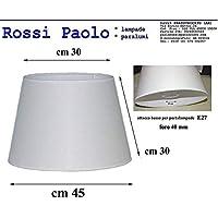 Prime paralume coprilampada tronco cono d45 tessuto avorio e PVC - produzione propria - made in Italy (cm 45)