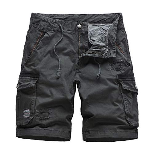 Ozon Bib (CHLCH Herren Sport Shorts Jogginghose KordelzugFünf Hosen Baumwolle dunkelgrau 29 gewaschen)