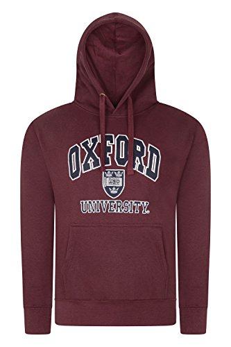Oxford University Qualität Bestickt Sweatshirt mit Kapuze-Unisex-Burgund Farbe Gr. Medium, Burgunderrot -