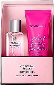 Victoria's Secret Bombshell Body Mist + Velvet Body Cream Set - Pack