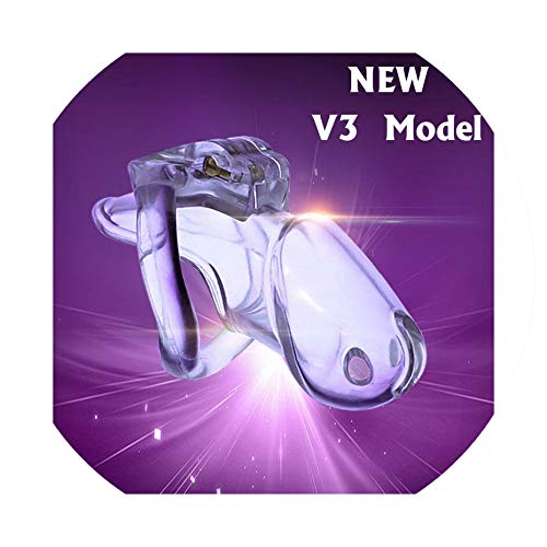 stity Device, Cage V3 4 Size Ring, Ring,Adult Game,Chastity Belt,A380,Transparent,Nano ()