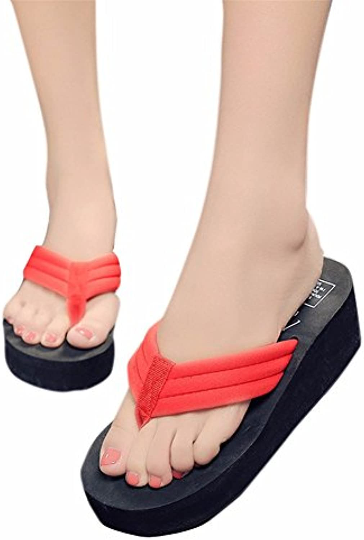 YUCH Zapatillas De Mujer con Espesor Inferior Y Toe Sandalias De Casa De Playa EN Verano