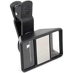 DURAGADGET Lente 3D para grabar vídeos de realidad virtual para smartphone Lenovo A6600 Lenovo K5 Note, PHAB2, Vibe S1 Lite, Motorola Moto G4 Play, G4 Play Plus, G4