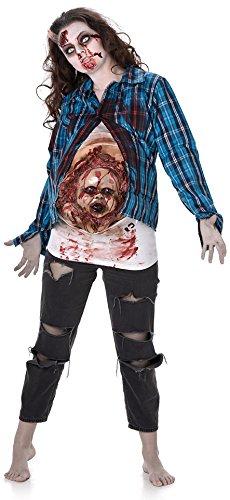Deluxe Embarazada Zombie Señoras Vestido De Lujo Womens Halloween Halloween Miedo Traje