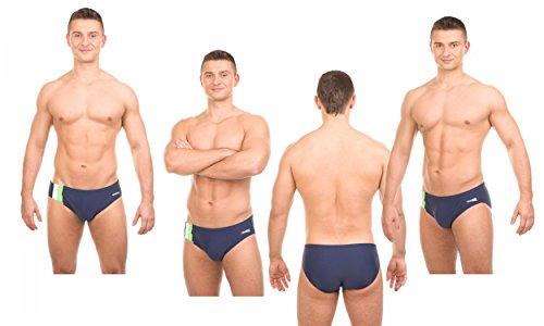Aqua Speed Adam Maillot de bain pour homme Lettre Pantalon Slip de Natation Mehrfarbig